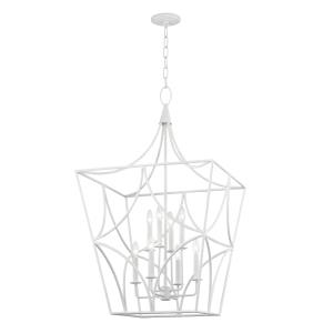 Green Point 8-Light Pendant - 24 Inches Wide by 40 Inches High
