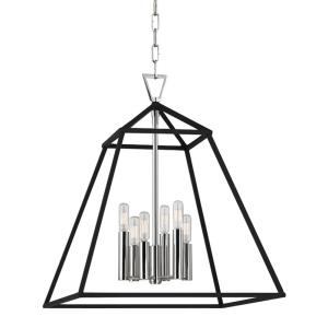Webster - Six Light Pendant - 19 Inches Wide by 22.5 Inches High