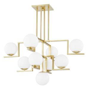 Tanner - 9 Light Chandelier in Contemporary/Modern Style - 46.5 Inches Wide by 28.5 Inches High