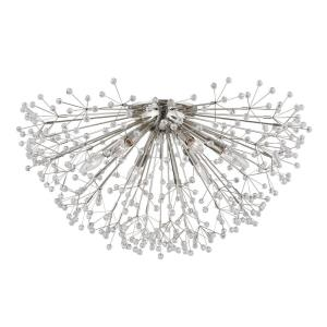Dunkirk - 6 Light Flush Mount in Luxury/Glam Style - 30 Inches Wide by 15.25 Inches High