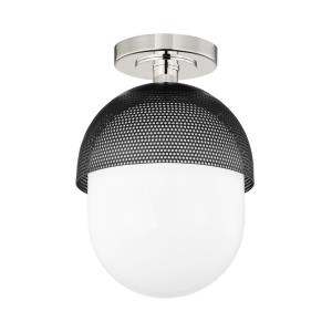 Nyack - 1 Light Semi-Flush Mount in Contemporary/Modern Style - 9 Inches Wide by 12.5 Inches High