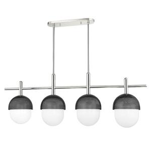 Nyack - 4 Light Island in Contemporary/Modern Style - 9 Inches High