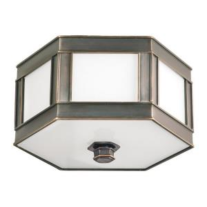 Nassau - Two Light Flush Mount - 13 Inches Wide by 6 Inches High