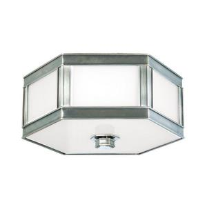 Nassau - Three Light Flush Mount - 16 Inches Wide by 6 Inches High