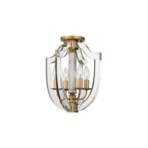 Arietta - Four Light Semi-Flush Mount - 12.5 Inches Wide by 15 Inches High