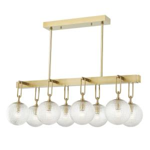 Jewett - Eight Light Linear Pendant in Transitional Style - 19.5 Inches Wide by 15.83 Inches High