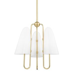 Slate Hill - 3 Light Chandelier in Contemporary/Modern Style - 19 Inches Wide by 19.75 Inches High