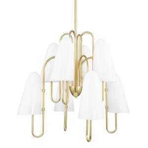 Slate Hill - 8 Light Chandelier in Contemporary/Modern Style - 31.5 Inches Wide by 28.25 Inches High