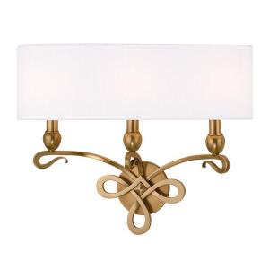 Pawling - Three Light Wall Sconce - 20 Inches Wide by 16.5 Inches High