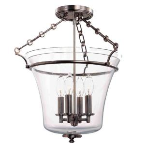 Eaton - Four Light Semi-Flush Mount - 15.75 Inches Wide by 18.5 Inches High