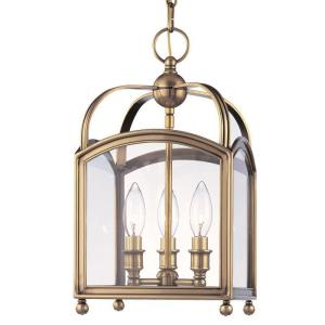Millbrook - Three Light Pendant - 8.5 Inches Wide by 15.75 Inches High