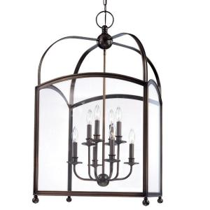 Millbrook - Eight Light Pendant - 20 Inches Wide by 36 Inches High