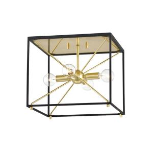 Glendale - 4 Light Chandelier in Contemporary/Modern Style - 12 Inches Wide by 10 Inches High