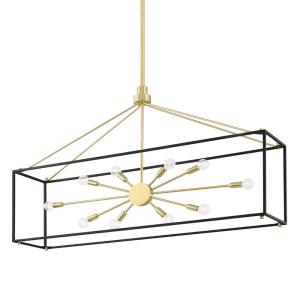 Glendale - 10 Light Island in Contemporary/Modern Style - 10 Inches Wide by 28.325 Inches High