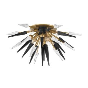 Sparta - Six Light Semi Flush in Modern Style - 28 Inches Wide by 14.25 Inches High