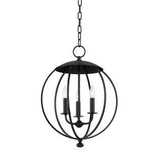 Wesley - 3 Light Pendant in Contemporary/Modern Style - 16.5 Inches Wide by 21.5 Inches High