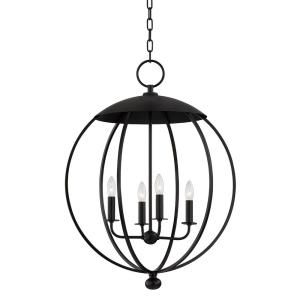 Wesley - 4 Light Pendant in Contemporary/Modern Style - 24 Inches Wide by 32.25 Inches High