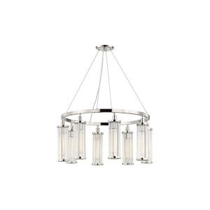 Marley 8-Light Pendant - 30 Inches Wide by 15 Inches High