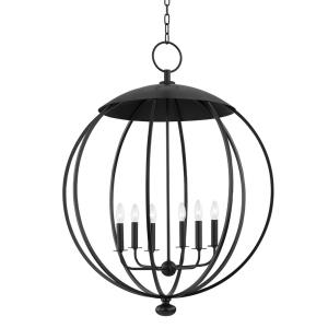 Wesley - 6 Light Pendant in Contemporary/Modern Style - 32 Inches Wide by 41.5 Inches High