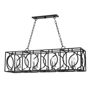 Octavio 8-Light Island-Light - 46 Inches Wide by 14.25 Inches High