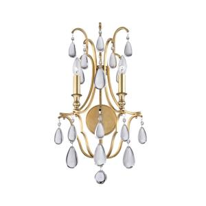 Crawford - Two Light Wall Sconce - 13.25 Inches Wide by 23.75 Inches High