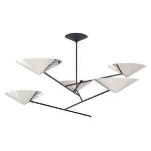 Equilibrium - 5 Light Chandelier in Modern Style - 59 Inches Wide by 23 Inches High