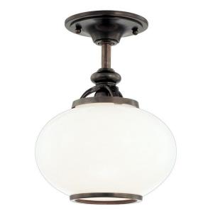 Canton - One Light Semi Flush Mount - 9 Inches Wide by 11.5 Inches High