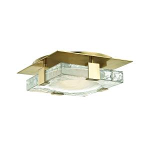 Bourne LED 11 InchW Wall/Flush Mount - 10.75 Inches Wide by 10.75 Inches High
