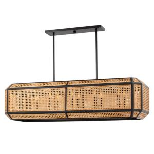 Georgia - 52.5 Inch 60W 10 LED Linear Pendant in Transitional Style - 52.5 Inches Wide by 16.5 Inches High