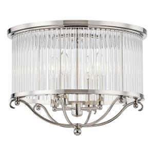 Glass No.1 - 4 Light Semi Flush Mount - 19 Inches Wide by 12.75 Inches High