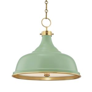 Painted No.1 - 3 Light Pendant - 18 Inches Wide by 16 Inches High