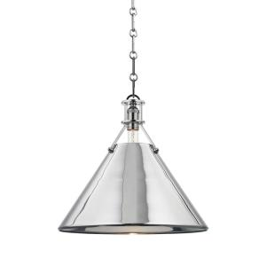 Metal No. 2 - 1 Light Pendant - 16 Inches Wide by 14.5 Inches High