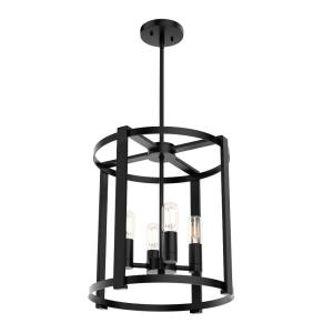 Astwood-Four Light Lantern Chandelier in Caged Style-16 Inches Wide by 25.5 Inches High