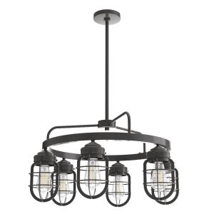 Starklake-6 Light Chandelier in Caged Style-26 Inches Wide by 14.5 Inches High
