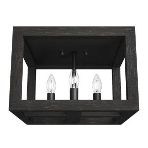 Squire Manor-4 Light Flush Mount in Modern Style-12 Inches Wide by 8.75 Inches High