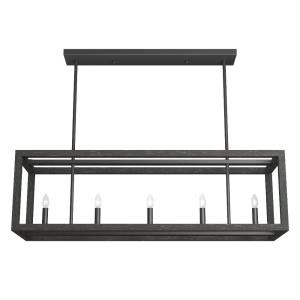 Squire Manor-6 Light Chandelier in Modern Style-11 Inches Wide by 12.25 Inches High