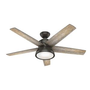 Abernathy - 52 Inch Ceiling Fan with Light Kit and Remote Control