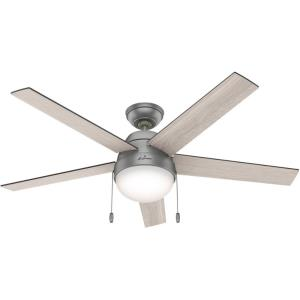 "Anslee 52"" Ceiling Fan with LED Light and Pull Chain"