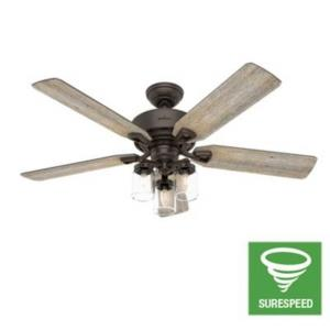 Devon Park - 52 Inch Ceiling Fan with Light Kit and Remote Control