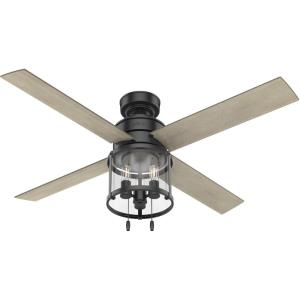Astwood-Ceiling Fan with LED Light and Pull Chain in Modern Style-52 Inches Wide by 14.86 Inches High