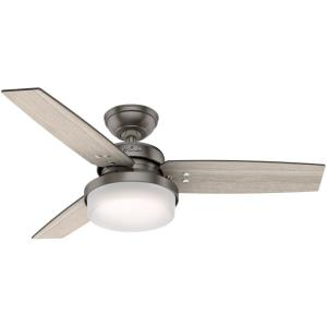 "Sentinel 44"" Ceiling Fan with LED Light and Handheld Remote"