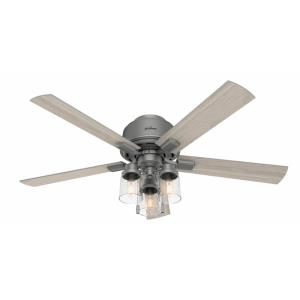 Hartland-Low Profile Ceiling Fan with Light Kit in Farmhouse Style-52 Inches Wide by 16.5 Inches High