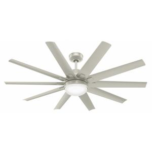 Overton-10 Blade Ceiling Fan with Light Kit and Wall Control in Casual Style-60 Inches Wide by 18.8 Inches High