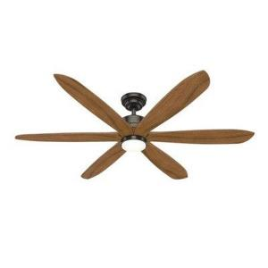Rhinebeck-Ceiling Fan with Light Kit and Remote Control in Casual Style-58 Inches Wide by 13.64 Inches High