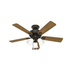 Swanson-Ceiling Fan with Light Kit and Pull Chain in Traditional Style-44 Inches Wide by 16.93 Inches High