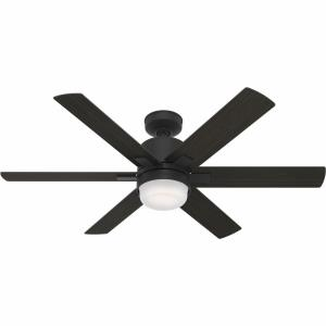 WiFi Radeon-Ceiling Fan with LED Light Kit and Wall Control in Modern Style-52 Inches Wide by 15.75 Inches High