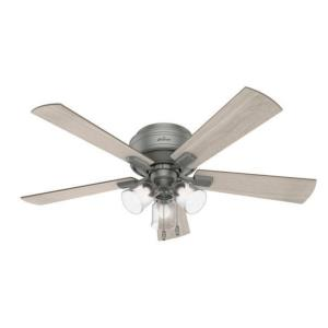 """Crestfield 52"""" Low Profile Ceiling Fan with LED Light and Pull Chain"""