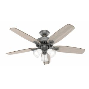 Builder-5 Blade Ceiling Fan with Light Kit and Pull Chain in Traditional Style-52 Inches Wide by 18.06 Inches High