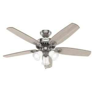 """Builder 52"""" Ceiling Fan with LED Light and Pull Chain"""