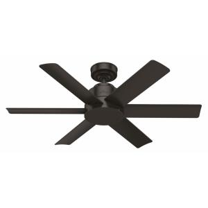 Kennicott-6 Blade Ceiling Fan with Wall Control in Industrial Style-44 Inches Wide by 12.76 Inches High